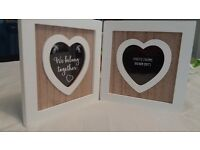 Two hearts photo frame. Brand new