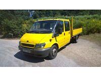 2001 ford transit 350 lwb dropside pick up truck