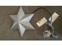 Wall Hanging Silver Star Light