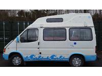 Ford Transit Camper van/Motorhome,12 months mot with power steering,Low Millage
