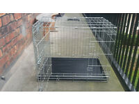 Dog crate for sale £5.00 (medium) (HAS BECOME AVAILABLE AGAIN) but would suit smaller dog