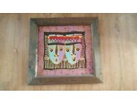 Batik Art Painting, with a wooden frame