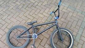 Bmx bike with custom parts fitted