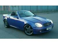 MERCEDES SLK CONVERTIBLE, 6 SPEED MANUAL, AMG WHEELS WITH GOOD TYRES