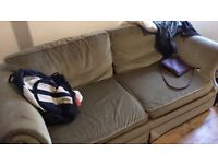 3 seater sofa bed (good condition) open to offers