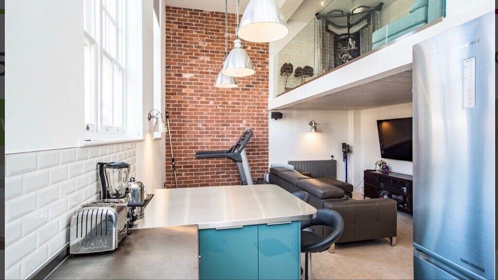 Luxury 2 Bed Split Level Duplex Loft Style Apartment 10 Min Walk To Station Gas Water Free