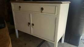 Shabby chic unit. Oak drawers