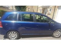 Blue Vauxhall Zafira , 7 seats, MOT untill end of june 2019, good family car , selling as downsizing