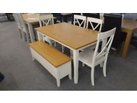Julian Bowen Davenport Table 4 Chairs Storage Bench Can Deliver