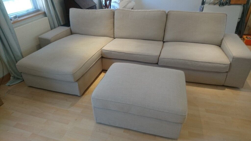 Ikea 3 Seat Sofa With Chaise Longue Kivik In