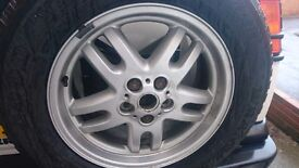 """Land rover discovery 2 18"""" alloys with nuts and locking nuts"""