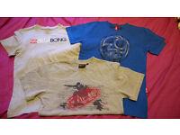 3 boys surf t-shirts aged 12