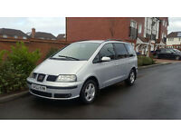 Seat Alhambra 1.9 TDI PD SE (2002/02 Reg) + 7 SEATER + 6 SPEED MANUAL + DIESEL + NEW SHAPE +