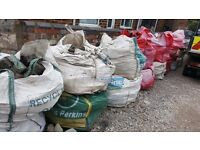 cobblestones clean mixed granite & sandstone for driveways etc.approx 18xbulk bags