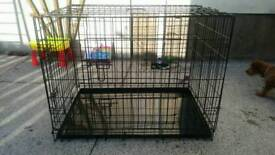 Dog crate / cage puppy large 36inch black with metal tray Quality one