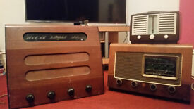 Collection of seven vintage valve radios - 1940s, 1950s and 1960s