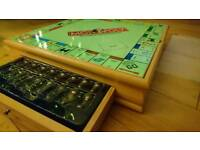 Wooden Monopoly and Cluedo set (plus 5 classic games)