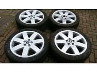 GENUINE LAND ROVER RANGE ROVER VOGUE L322 20 INCH ALLOY WHEELS 5X120 WINTER TYRES VW T5 T6