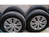 Toyota 5x114.3 15 inch 196x65 wheels and tyres