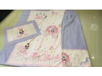 Pretty Little Princess Curtains, Single Duvet cover & Pillow case - Great for little girls bedroom!