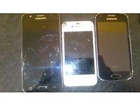 3x cracked screen phones