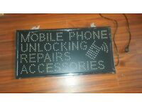 phone shop LED sign