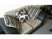3 seater plus 2 seater part leather sofa