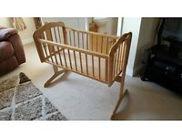 Mothercare Swinging Crib - Natural Excellant condition