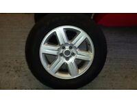 Landrover evoque alloys with tyres