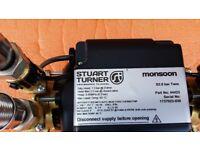 STUART TURNER MONSOON - 2 BAR SHOWER PUMP; LESS THAN ONE YEAR OLD