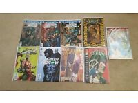9 x Green Arrow DC comics including 50th Anniversary and vintage comic annuals