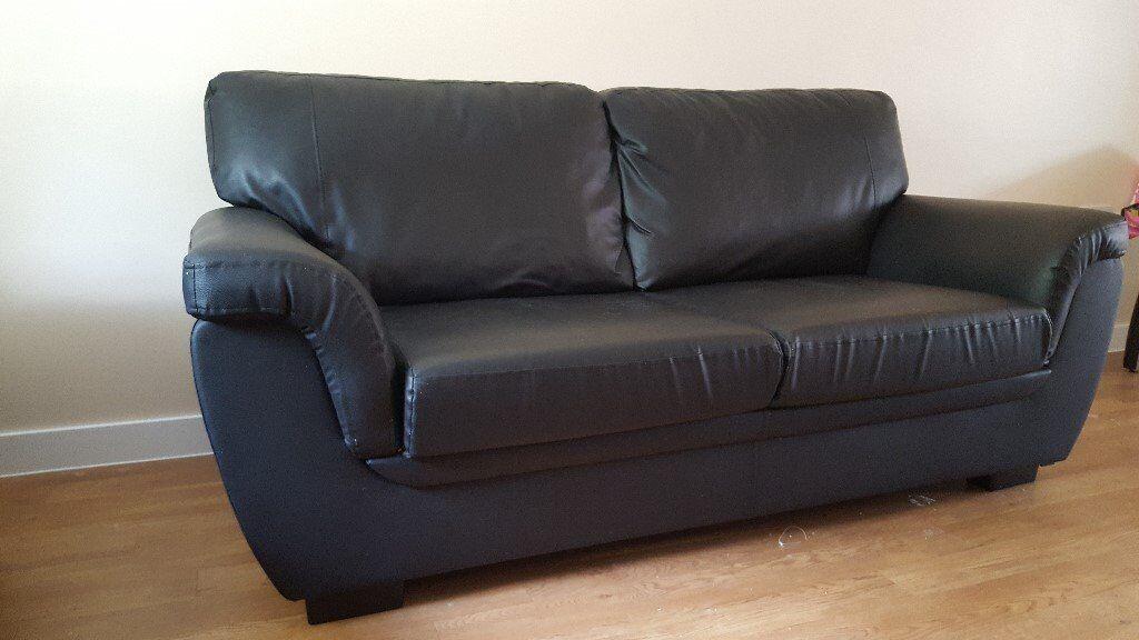 3 seater faux leather sofa - £15 | in Trumpington ...