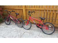 Two bmx bikes