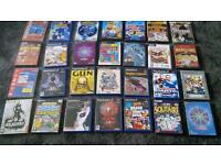 29 play station and pc DVD games