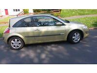 Renault Megane 1.9 dci 2003 hatchback green, Mot apr 2017 - SPARES OR RAPAIRS