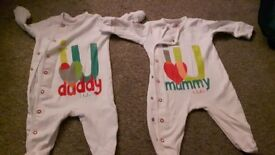 Next I love Mummy and Daddy sleepsuits up to 3 months