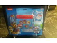"Official PAW Patrol ""Chase, Marshall & Rubble"" Deluxe Roll and Go Art Desk"