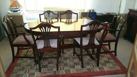Coyle mahogany dining table and 6 chairs