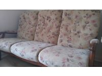 Stylish 3 seater sofa with 3 armchairs