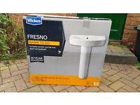 Wickes Fresno Wash Basin & Pedestal