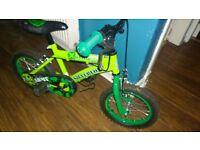 boys bike 14inch good condition very tiny rip on seat, otherwise great condition