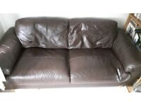 Leather sofa, excellent condition £30