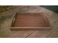 Butler Breakfast Serving Tray Solid Wood Wooden