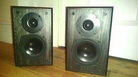2 x Gale 2i Special Edition Black Ash Speakers -Spares or repair