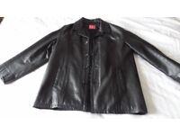 Mens leather winter coat xxl