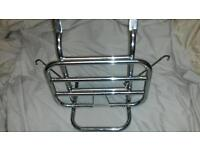 Vespa PX stainless flipdown front rack