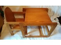 Highchair and table
