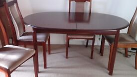 Dinning room table seats 4, but extends to seat 6