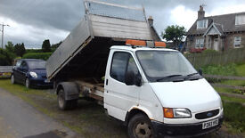 Ford transit tipper, smiley, mk5, lwb, 2.5 di banana engine, tipping body with high sides
