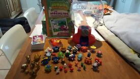 Moshi monsters, collectors guide, cards and gumball machine